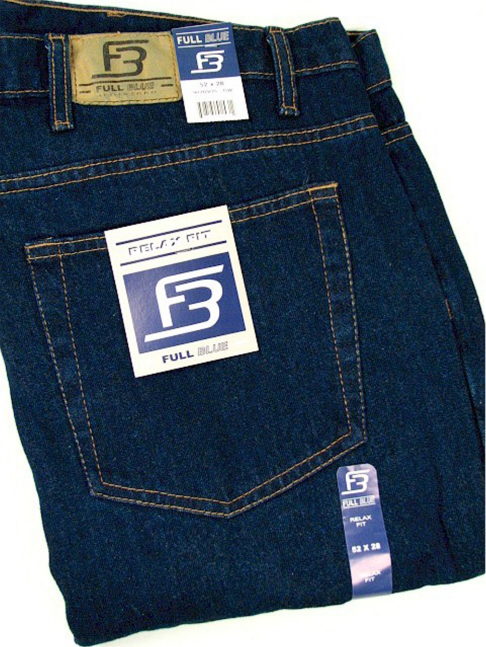 Full Blue Big and Tall  90203OS Relaxed 5 Pocket Denim Jean NAVY 46-28