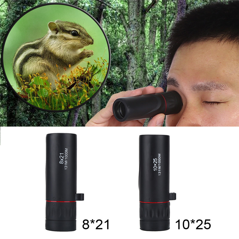 Monocular Telescope Portable Monocular 8X 10X Focus Telescope Optical Monoculars with Bag and Wrist Strap For Outdoor... by