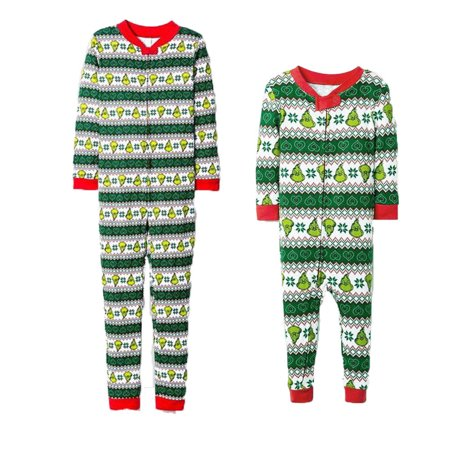 Family Matching Xmas Pajamas Set Women Kid Adult PJs Sleepwear Nightwear Home Wear (Superhero Pjs For Kids)