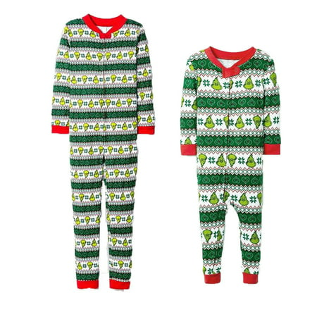 Family Matching Xmas Pajamas Set Women Kid Adult PJs Sleepwear Nightwear Home Wear (Christmas Pajamas For The Whole Family)