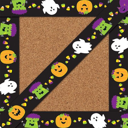 Halloween Straight Borders - Halloween Document Borders