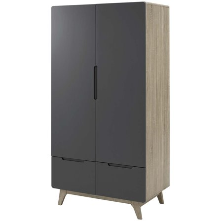 Rook Chess (Modern Contemporary Urban Design Bedroom Living Room Dresser Drawer Chest Wardrobe Cabinet, Wood, Grey Gray)