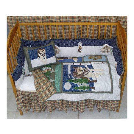 Patch Magic Wolf 9 Piece Crib Bedding Set Walmart Com