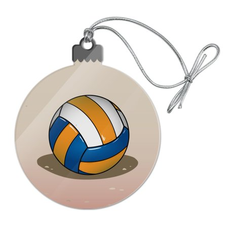 Beach Volleyball Cartoon Acrylic Christmas Tree Holiday Ornament - Christmas Cartoon Tree