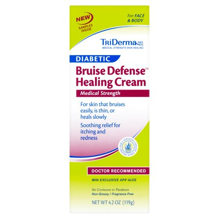Triderma Md Diabetic Bruise Defense Healing Cream  4 2 Oz