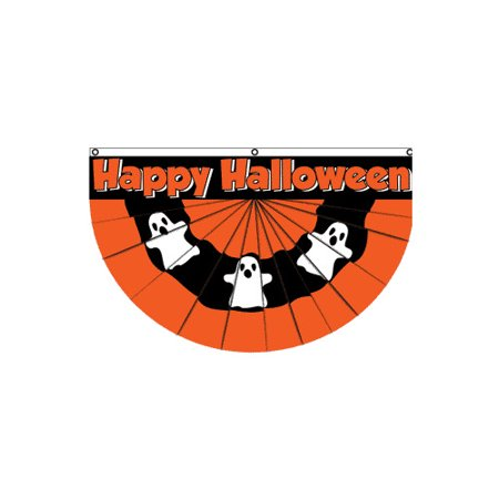 Flags Importer Halloween (Ghost) Bunting Pleated Flag
