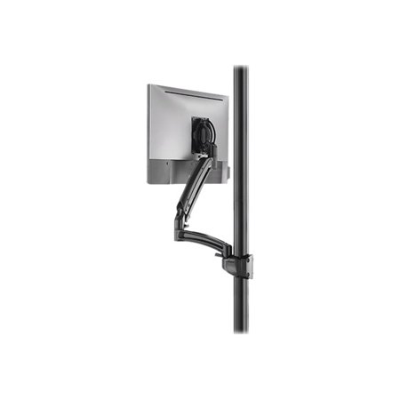 Chief Kontour K1P Series K1P120 - Mounting kit (interface bracket, dual articulating arm, pole mount) for LCD display - forged aluminum - black - screen size: 10