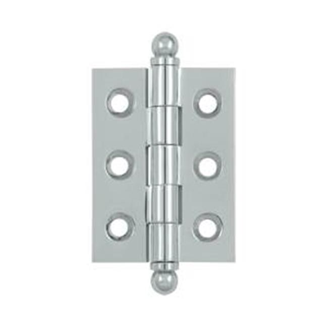 Deltana CH2015U26 2 x 1.5 in. Hinge with Ball Tips, Bright Chrome - Solid  - image 1 of 1