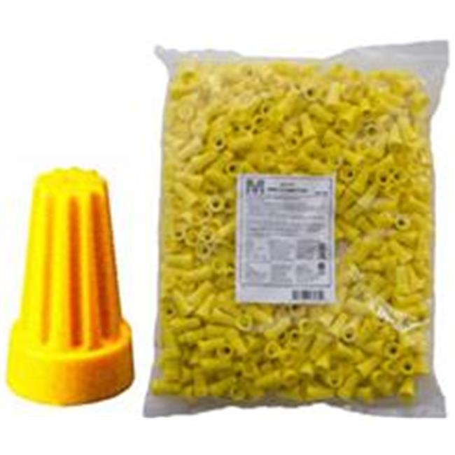 Morris Products 23174 Screw-On Wire Connectors P4 Yellow Bagged 500 Bulk Pack, Pack Of 500