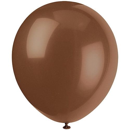 "12"" Brown Balloons, 72ct"