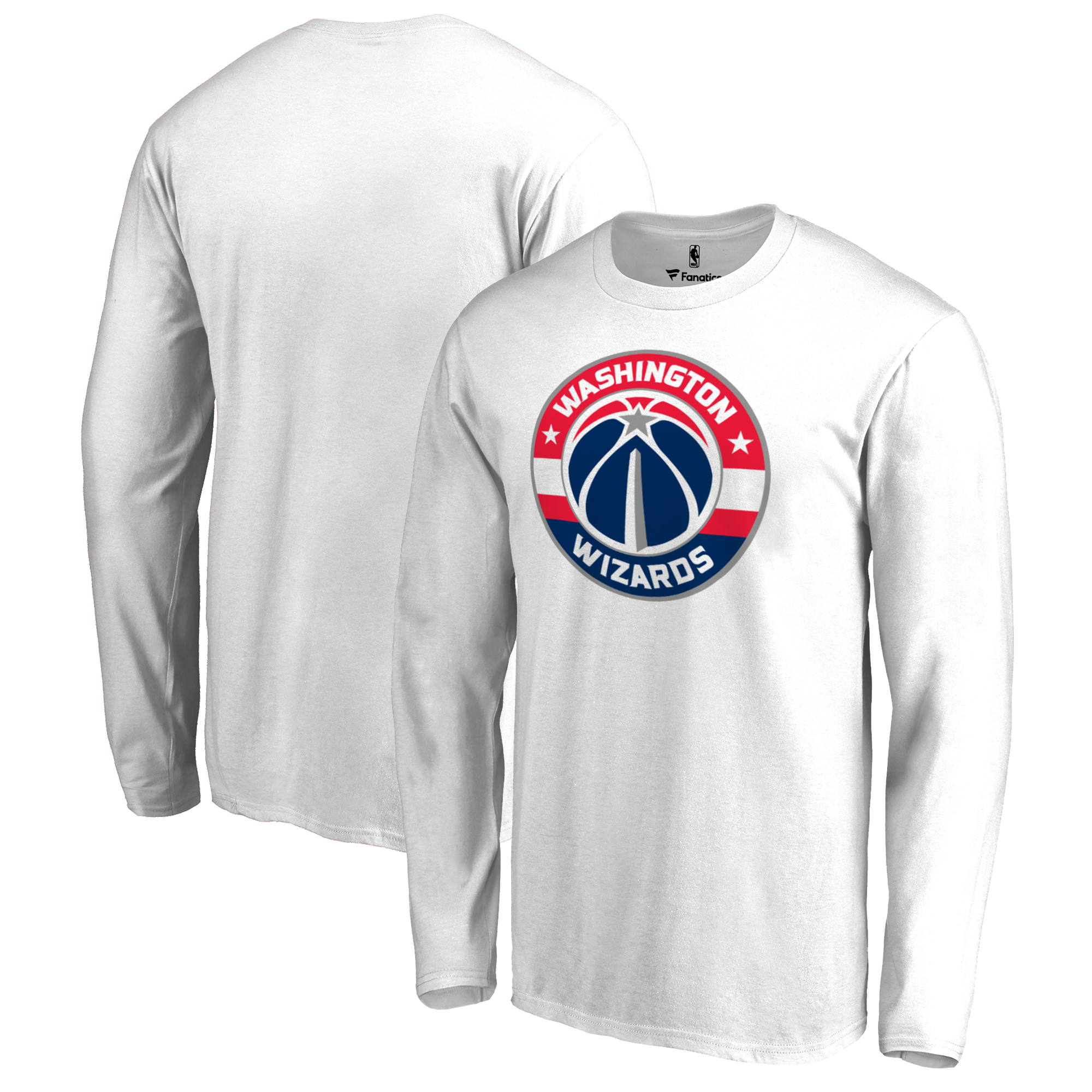 Washington Wizards Fanatics Branded Big & Tall Team Primary Logo Long Sleeve T-Shirt - White