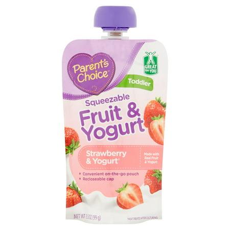 Parents Choice Baby Food  Stage 4  Strawberry   Yogurt  3 5Oz Pouch