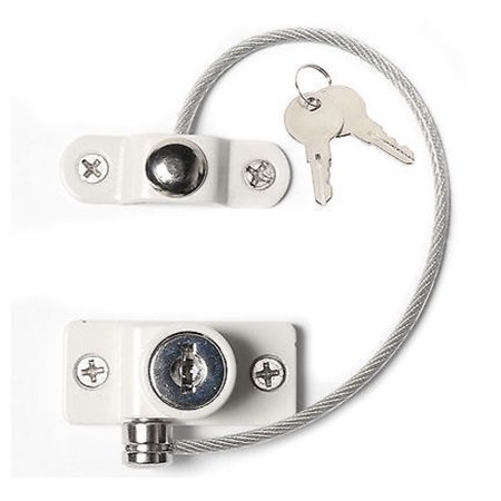 2018 Window Door Security Locking Cable Restrictor Wire Infant Baby Safety Lock Key - image 5 de 5