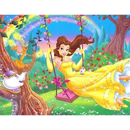 Beauty and the Beast  Cast Princess Edible Icing Image Cake Topper Sheet 1/4 Sheet -