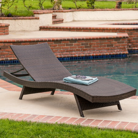 Outdoor Brown Chaise Lounge (single) ()