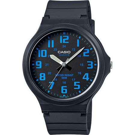 Men's Super-Easy Reader Watch, Black/Blue Dial, MW240-2BV