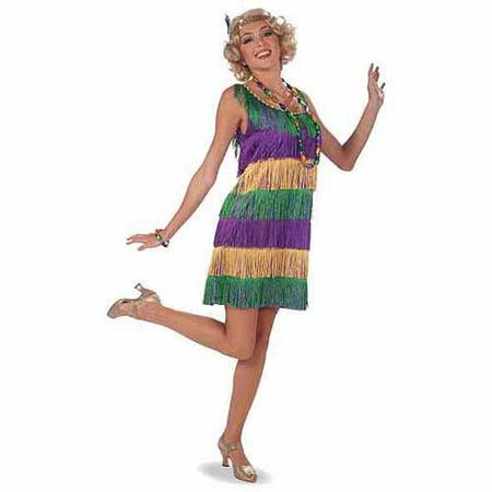 Mardi Gras Frisky Flapper Adult Costume