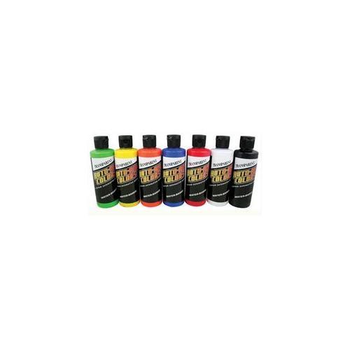 Alvin 4963-00 Createx Auto-Air Colors Airbrush Paint Set - Transparent, 4 oz.