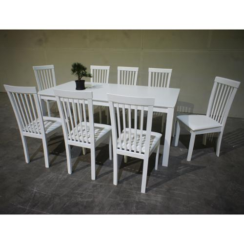 Warehouse Of Tiffany Megan 9 Piece White Dining Set