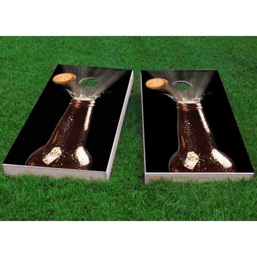 Custom Cornhole Boards Beer Bottle Blowing Top Cornhole Game (Set of 2) by Custom Cornhole Boards