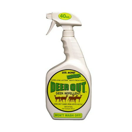 Deer Out 40oz Deer Repellent Ready-to-Use (Best Scent Control For Deer Hunting)