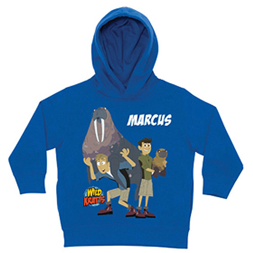 Personalized Wild Kratts Tons of Fun Royal Blue Toddler Boys' Hoodie
