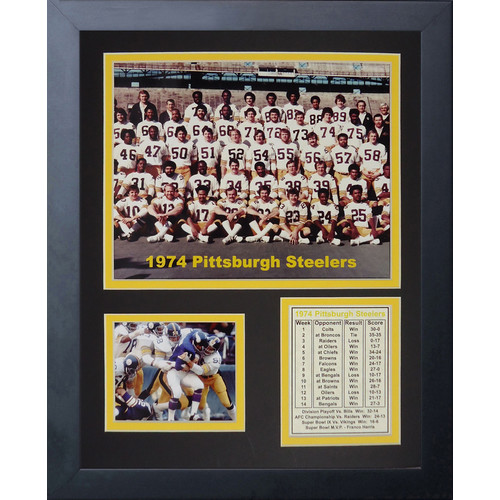 Legends Never Die Pittsburgh Steelers 1974 Champs Framed Memorabili