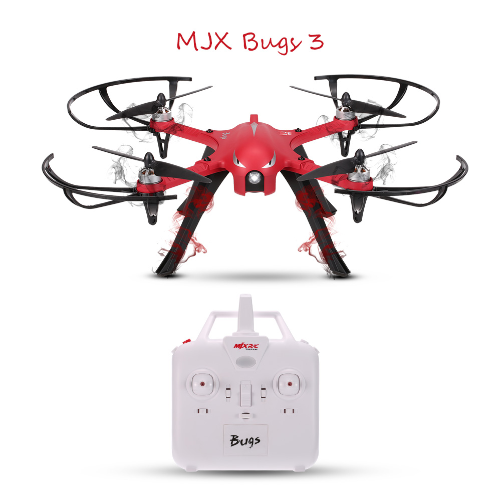 MJX Bugs 3 2.4G 6-Axis Gyro Brushless Motor Independent ESC Drone Support C4000 Gopro 3 4 XiaoYi Action Camera... by