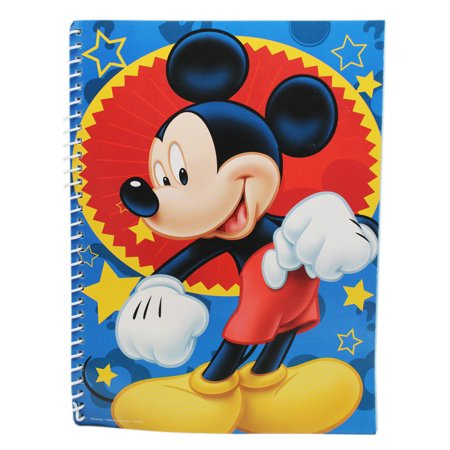 Disney's Mickey Mouse Blue/Red Star Themed Kids Notebook (No - Mickey Mouse Themed Food