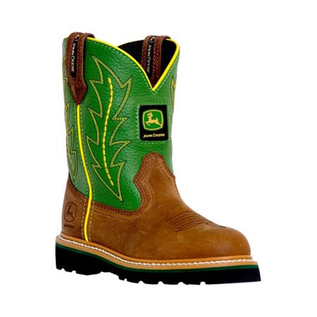 Children's John Deere Boots Leather Wellington (Wellington Green)