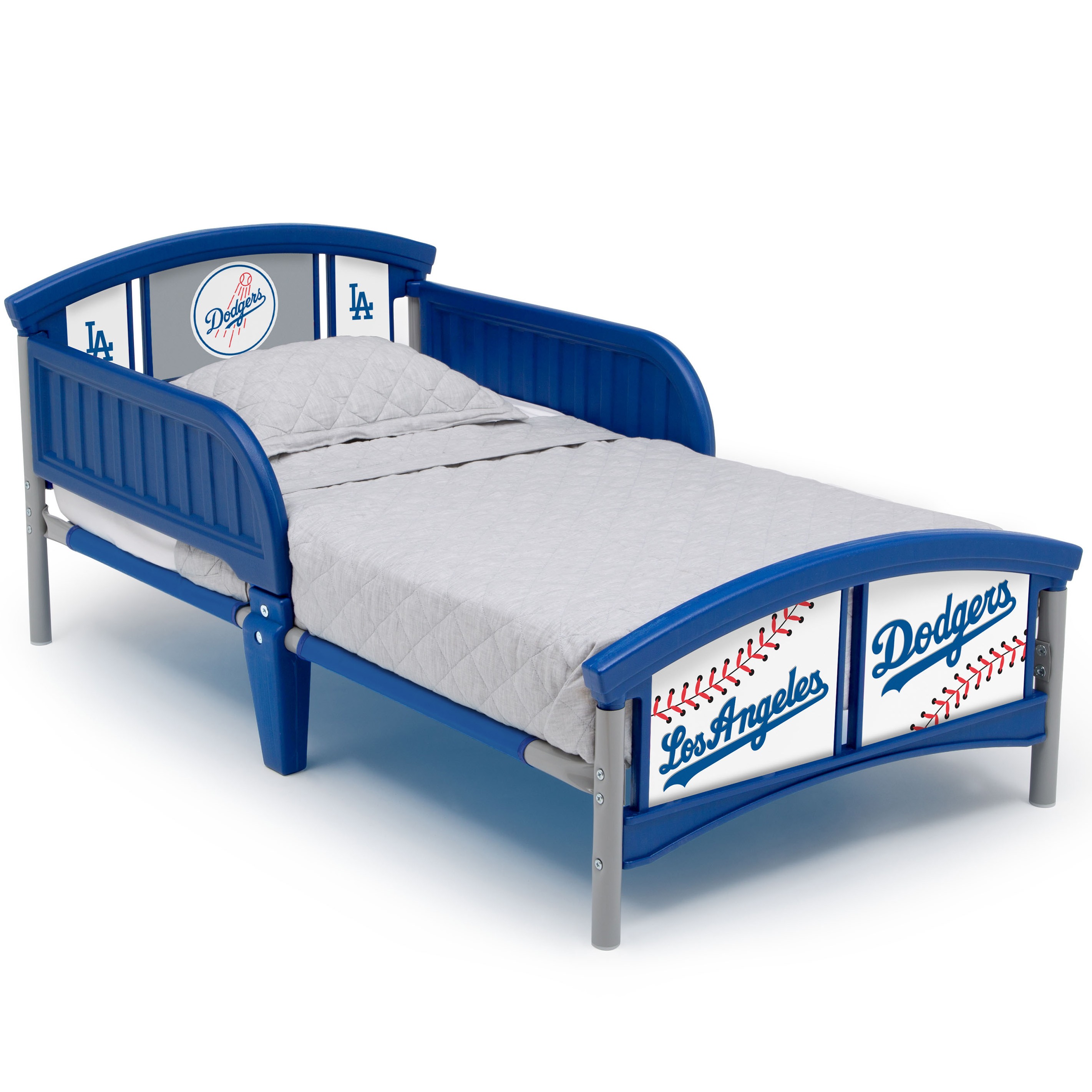 MLB Los Angeles Dodgers Plastic Toddler Bed by Delta Children