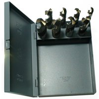 """Drill America 8 Piece Cobalt Drill Bit Set with 1/2"""" Reduced Shank, Sizes 9/16"""" - 1"""""""