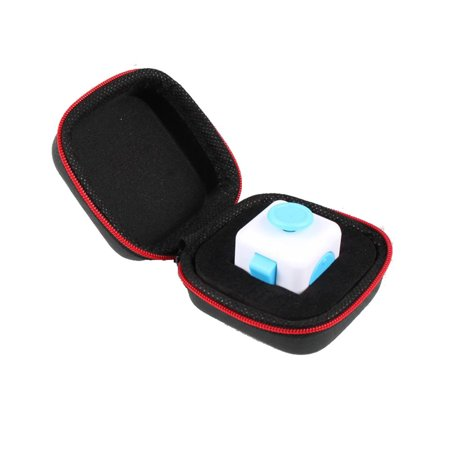 New Amusing Gift For Fidget Cube Anxiety Stress Relief Focus Dice Bag Box Carry Case