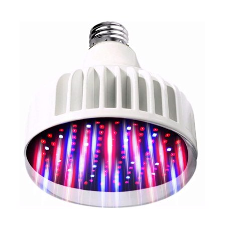 Lighting Labs Pro Grow Series - LED Grow Bulb - Real 40 Watt Output, Full Spectrum, Red and Blue tuned for maximum flowering, hydroponic indoor green house, E27, 120-277V, Clear Cover ... ()