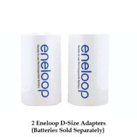 Sanyo Eneloop Spacer Pack: 2 D-size Adapters [Hassle Free Packaging]