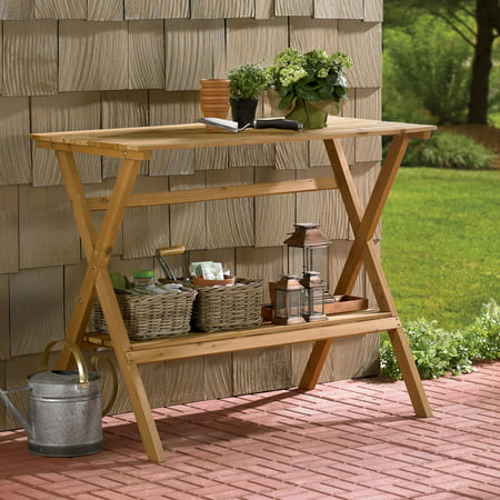 Northbeam Simple Wooden Potting Bench