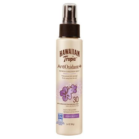 Hawaiian Tropic Antioxidant Plus Sunscreen Mist SPF 30, 3.4 Oz Antioxidant Spf 30 Sunscreen