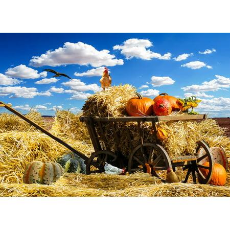 LAMINATED POSTER September Pumpkin Autumn Harvest Thanksgiving Poster Print 24 x 36 for $<!---->