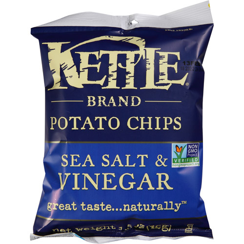 Kettle Brand Sea Salt & Vinegar Potato Chips, 1.5 oz, (Pack of 24)