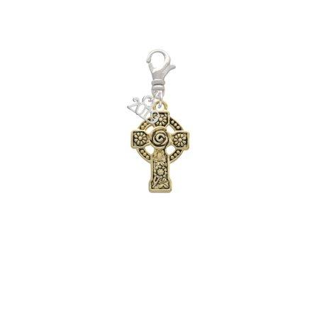 Goldtone Large Celtic Cross - 2019 Clip on Charm ()