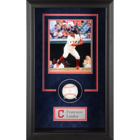 Francisco Lindor Cleveland Indians Fanatics Authentic Framed Autographed Baseball Shadowbox - No Size - Autograph Frame