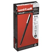 uni-ball Roller Pens, Fine Point (0.7mm), Black, 12 Count, 60101
