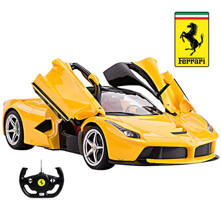 Rtr Usb (Licensed Ferrari LaFerrari RC Car 1:14 Scale with Integrated Battery & USB Charging | Rastar Radio Remote Control 1/14 RTR Super Sports Car Model w/ Open Doors by Rastar)