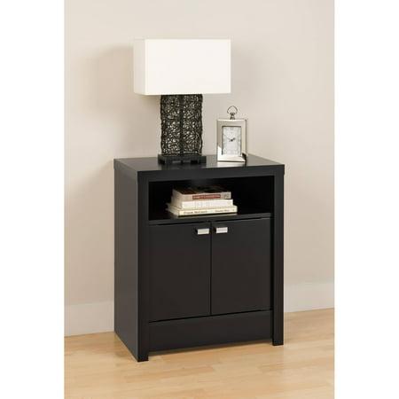Black Series 9 Designer Tall Nightstand, 2-Door