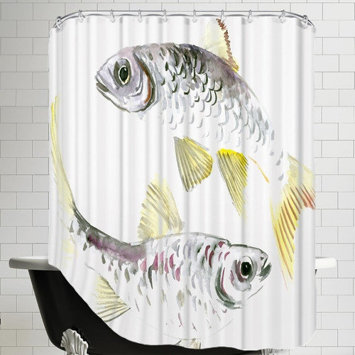 Americanflat Fish Shower Curtain