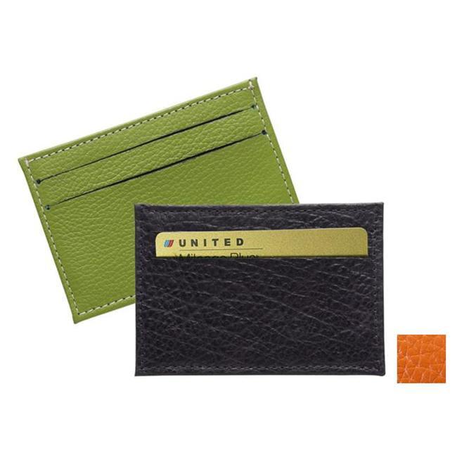Raika RO 145 MOCHA 2.75in. x 4in. Two-Sided Card Case - Mocha