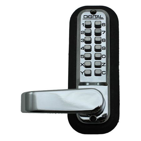 Lockey USA 2835 Passage Door Lever with Double Combination Mechanical Keyless Lock