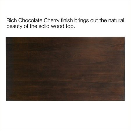 Bowery Hill Two Drawer Solid Wood Coffee Table in Chocolate Cherry - image 3 de 4