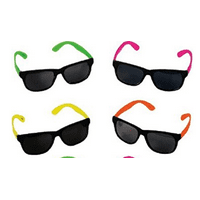 Sunglasses, Neon 80's Style Party, 24 count