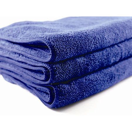 Heavy Plush Extra Large 700 GSM 15 x 25 Microfiber Cleaning Towel (Blue) Pack of 1